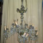 lampadario prima del restauro