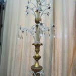 restauro lampadario fase di rimontaggio
