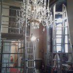 restauro lampadario antico cantieristica sala museale
