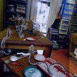 restauro lampadario fase rivestimento bracci luce