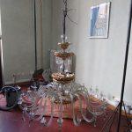 fase rimontaggio lampadario