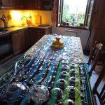 pulizia delle parti in cristallo