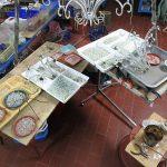 restauro lampadario fase riostruzione rivestimento delle corone