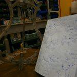 restauro lampadario posizionatura rosette