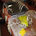 restauro lampadario fase di lavaggio e pulizia