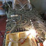 restauro lampadario fase test impianto elettrico