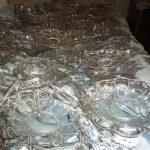 lavaggio di ogni singola parte in cristallo