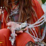 VintArt   cintura, cristallo bronzo e ceramica